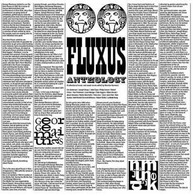 V.A : Fluxus Anthology : A Collection Of Music And Sound Events