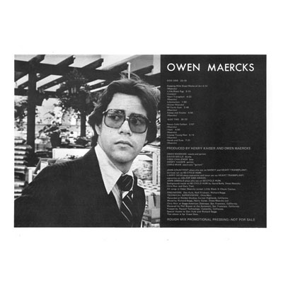 OWEN MAERCKS : Teenage Sex Therapist (Colored Vinyl)