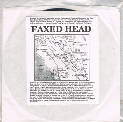 FAXED HEAD : Show Pride In Coalinga / The Colors Of Coalinga