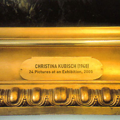 CHRISTINA KUBISCH : 24 pictures at an exhibition